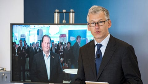 Salesforce announcement, video of Frans van houten
